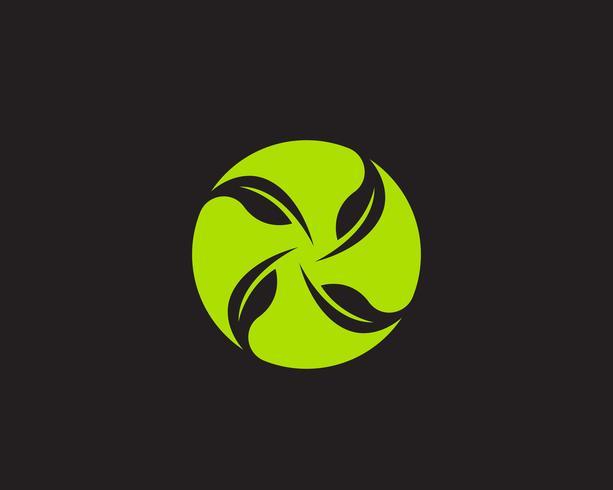 Icona di vettore dell'elemento della natura di ecologia della foglia verde del logos