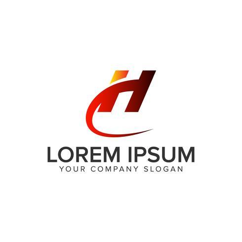 lettera H modello di concetto di design logo unico creativo. completamente edi vettore