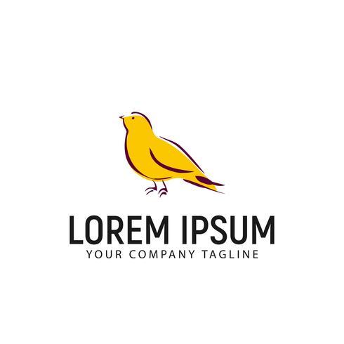 modello di concetto di progettazione logo disegnato a mano uccello vettore