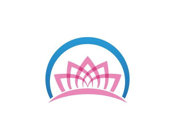Lotus beauty Sign per Wellness, Spa e Yoga. Illustrazione vettoriale