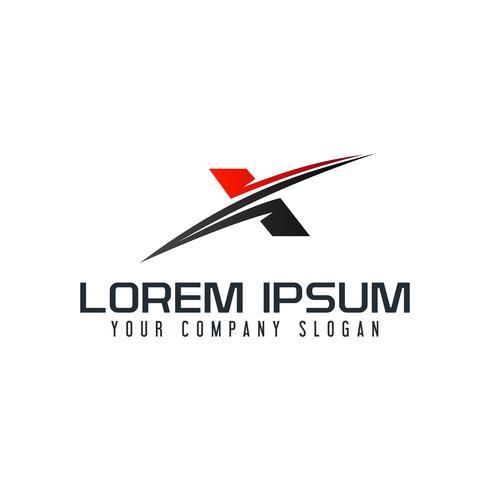 modello di concetto di disegno di lettera X logo moderno vettore