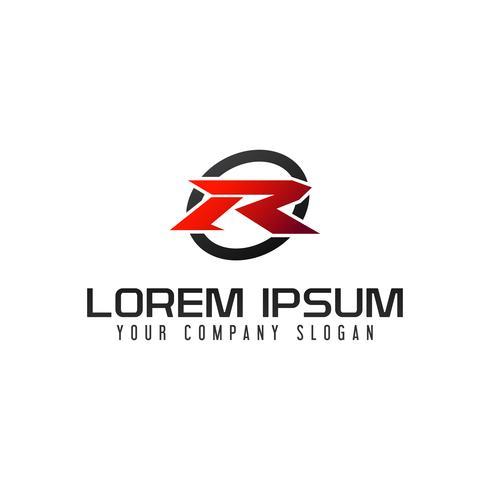 lettera R logo. modello di concetto di design velocità veloce vettore