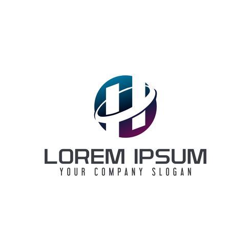 Logo lettera H. modello di concetto di design tech vettore
