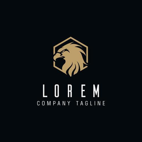 modello di concetto di design del logo di lusso di aquila testa vettore