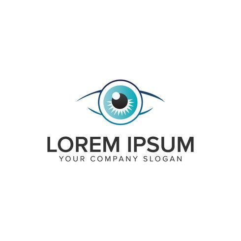 Modello di concetto di design di occhiali Eye logo. vettore completamente modificabile