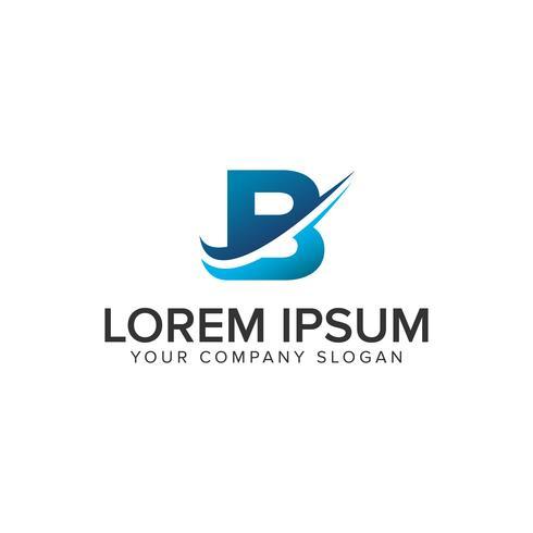 Modello di Cative Modern lettera B logo design concept. completamente edit vettore