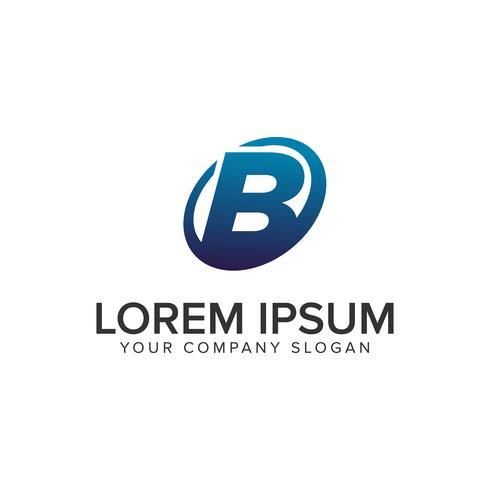 Modello moderno creativo di lettera B Logo design concept. completamente ed vettore
