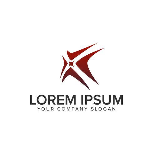 Modello di concetto di design logo unico creativo lettera X. completamente edi vettore