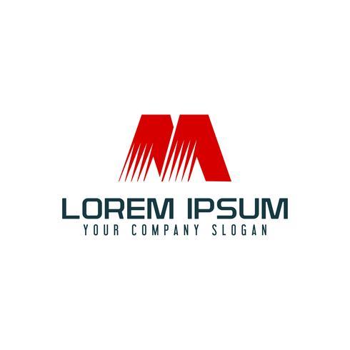 Modello di concetto di disegno di marchio di lettera M vettore