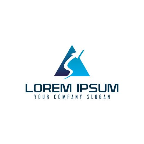 lettera A logo freccia. modello di concetto di business tech design vettore