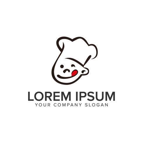 Illustrazione di Master Chef Logo Design vettoriale