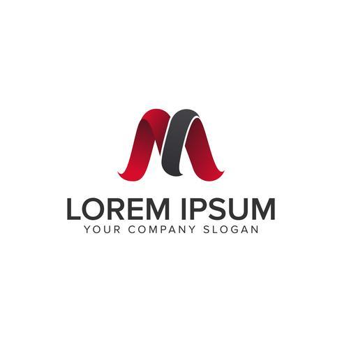 modello di concetto di design moderno lettera M logo. vec completamente modificabile vettore