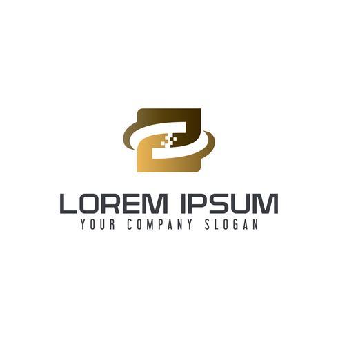 lettera Z tech logo design concetto modello vettore