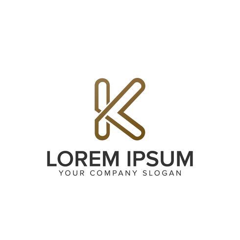 Logo K di lusso lettera vettore