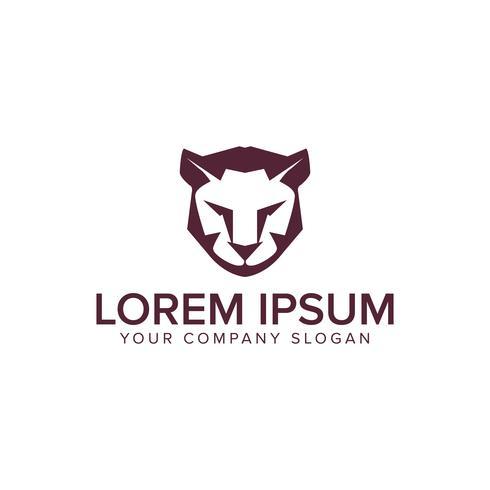 Modello di concetto di disegno di logo di tigre del leone. vettore