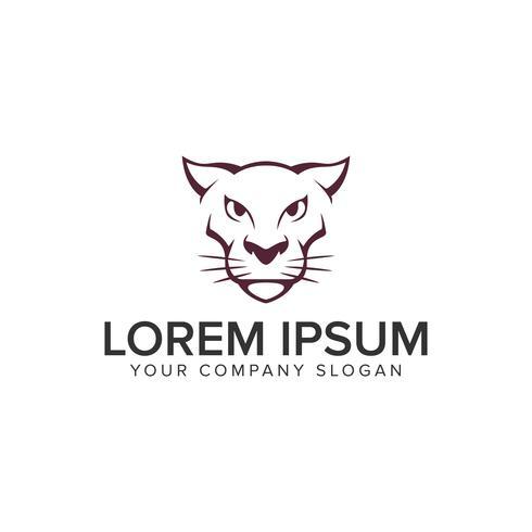 modello di concetto di progettazione di logo di tigre pantera testa logo. vettore