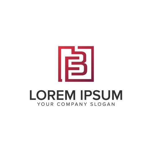 lettera FB modello di progettazione del logo quadrato logo. completamente modificabile ve vettore