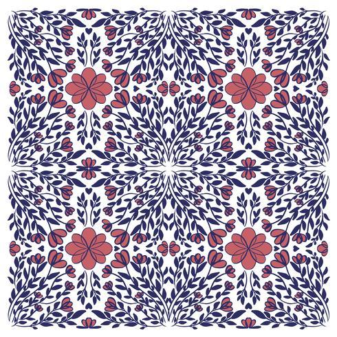 illustrazione astratta mandala texture vettoriale