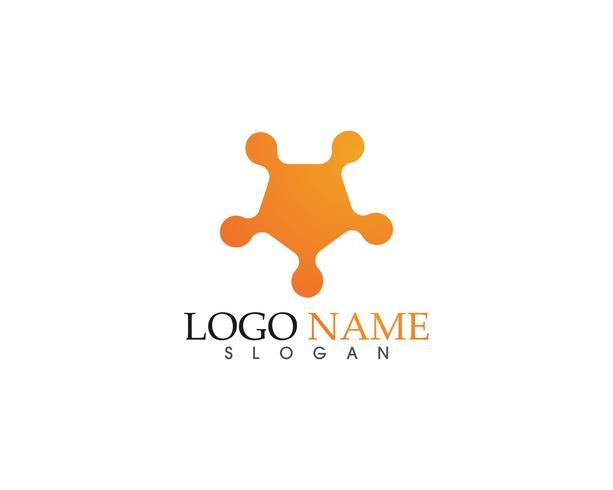 Icona di vettore di Star Logo Template.