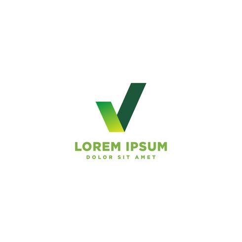 Progettazione moderna di logo dell'onda dell'estratto del segno di spunta, icona di affari. Emblema geometrico vettore