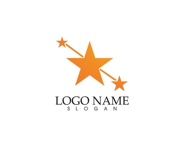 Stella falco Logo Template vettoriale icona app