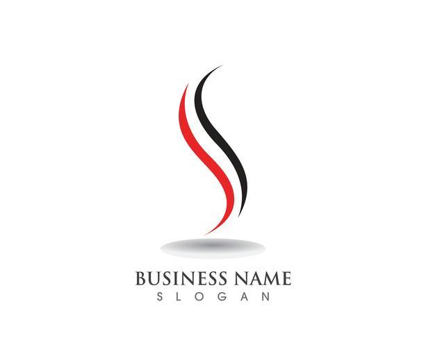 Icone di vettore del modello di simboli di logo di S