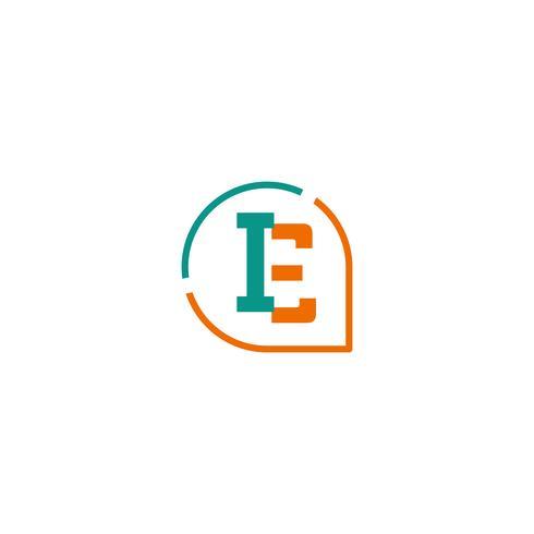iniziale E, IE, I Logo template vettoriale illustrazione icona elemento