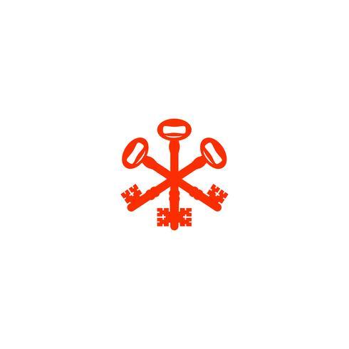 Elemento dell'icona dell'illustrazione di vettore del modello di logo di protezione della serratura a chiave