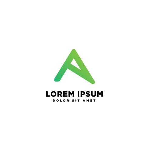 Segni un'illustrazione di vettore del modello di logo creativo astratto della lettera