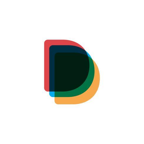 illustratore di vettore del modello di logo creativo della lettera d