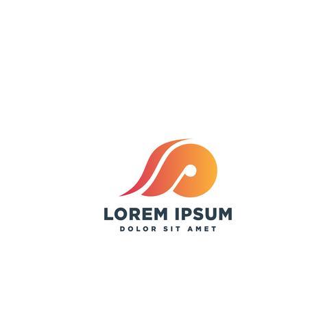 logotype lettera SP semplice logo modello vettoriale illustrazione