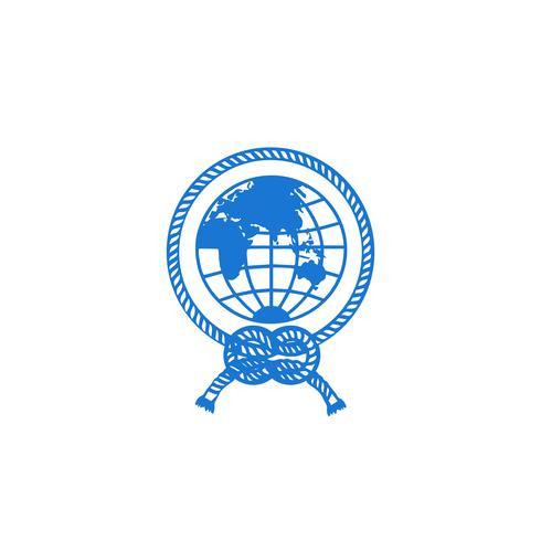 elemento dell'icona dell'illustrazione di vettore di progettazione dell'icona di logo del globo