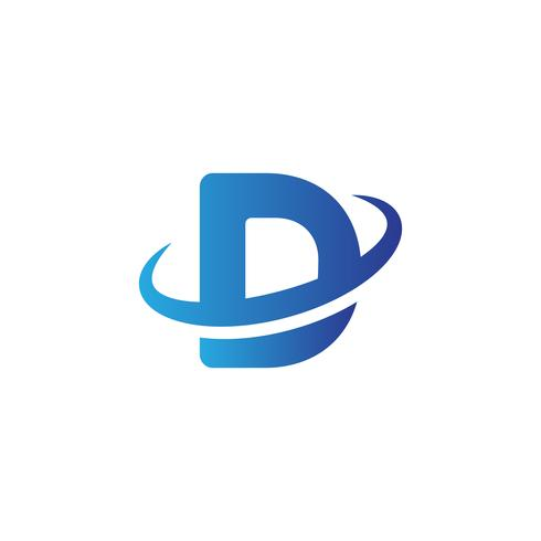 illustratore di vettore del modello di logo creativo lettera D