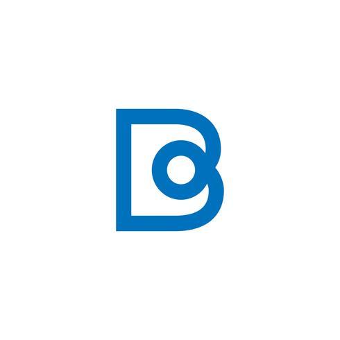 illustratore di vettore del modello di logo creativo della lettera B