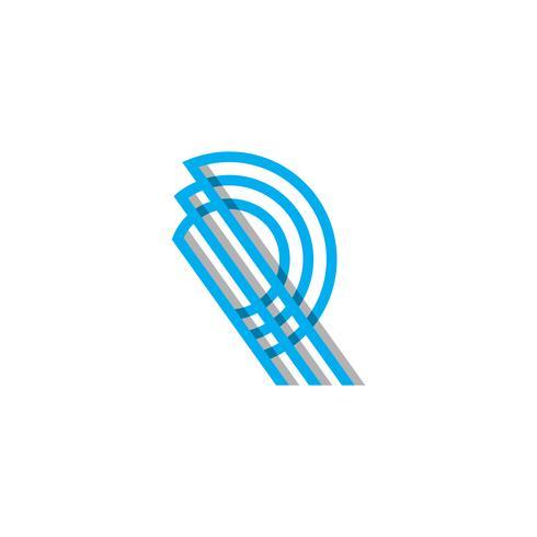 iniziale Monogram R Logo Template vettoriale illustrazione e ispirazione