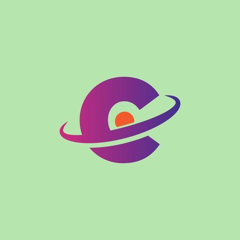 La lettera C ha messo l'uso pronto dell'illustrazione di vettore del modello di logo per tecnologia
