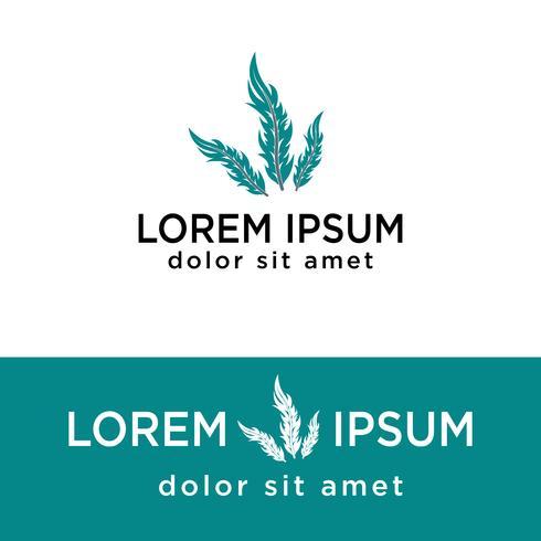 modello creativo di logo della spoletta creativo, elementi dell'icona isolati vettore