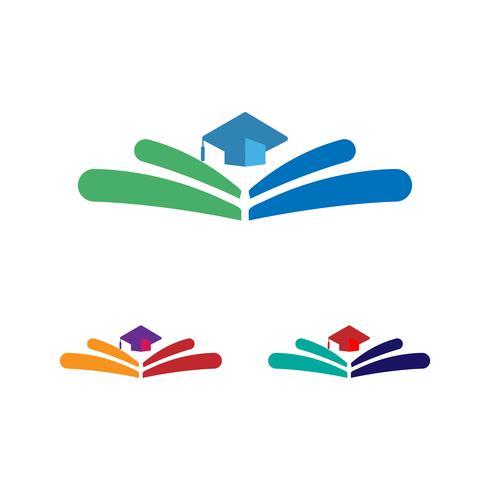 educazione, illustrazione vettoriale laurea logo, icona elementi isolati