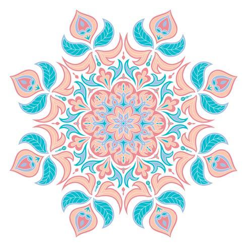 Elemento decorativo orientale. Islam, arabo, indiano, motivi ottomani. vettore