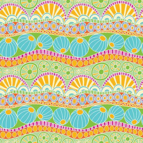 Modello astratto colorato doodle. Modello senza cuciture di doodle disegnato a mano per tessile vettore