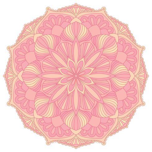 Mandala. Elemento decorativo orientale. Islam, arabo, indiano, motivi ottomani. vettore