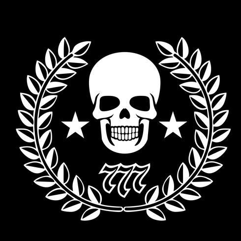 emblema militare con teschio, vettore