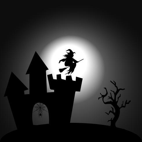 Immagine di sfondo per decorare le tue idee in celebrazione di Halloween. vettore