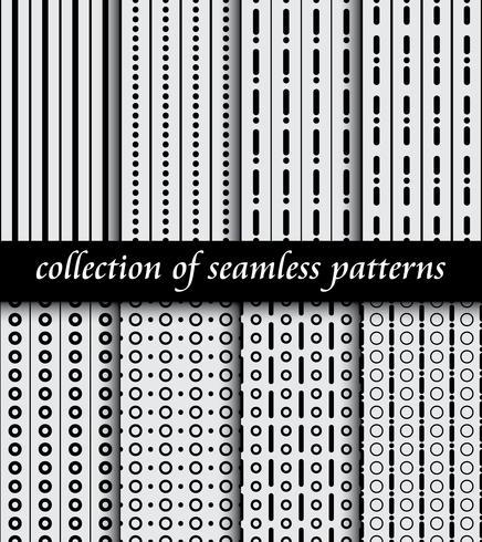 Set di modelli senza cuciture art deco. Texture moderne ed eleganti. sfondi astratti vettore