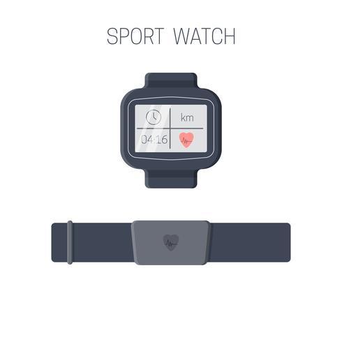 Icona orologio sportivo vettore