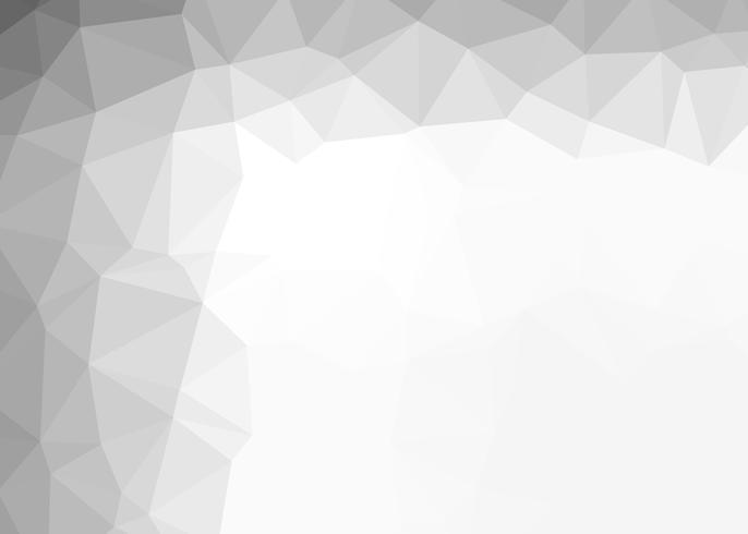 Priorità bassa astratta del mosaico del poligono grigio e bianco vettore