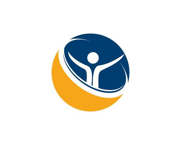 Salute persone logo e simboli successo salute vettore