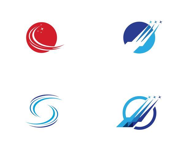 Icone di vettore del modello di logo più veloce