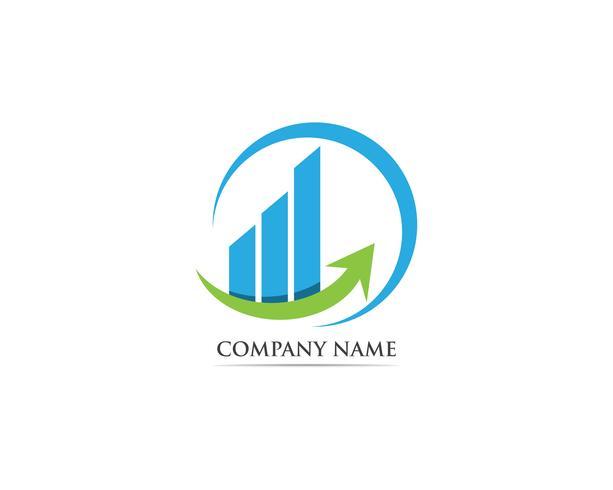 Finanza logo modello illustrazione vettoriale