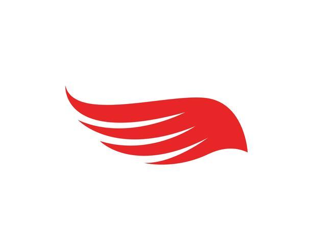 Progettazione di vettore delle icone del modello dell'ala di Flacon